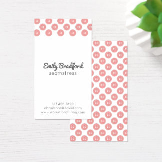 Button Seamstress Sewing Crafter Business Cards
