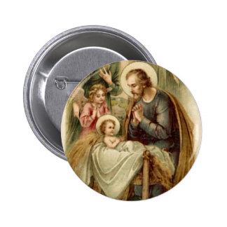 Button: St. Joseph Nativity 6 Cm Round Badge