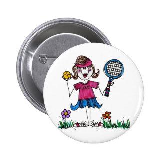 Button -Stick Tennis Girl