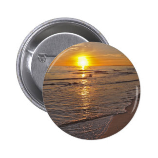 Button: Sunset by the Beach 6 Cm Round Badge