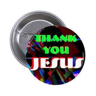 button-Thank you Jesus 6 Cm Round Badge