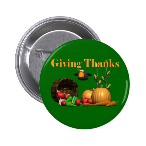 Button - Thanksgiving Giving Thanks