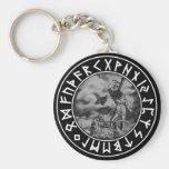 button Thor rune shield on Blk Keychains