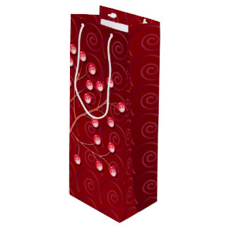 Button Tree Wine Gift Bag