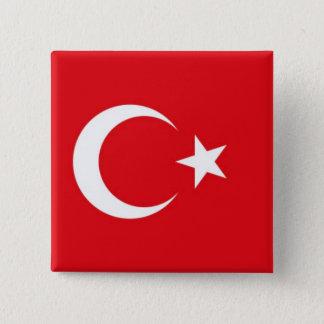 Button Turkish flag.