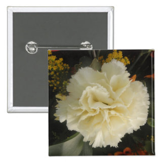 Button White Carnation Beauty