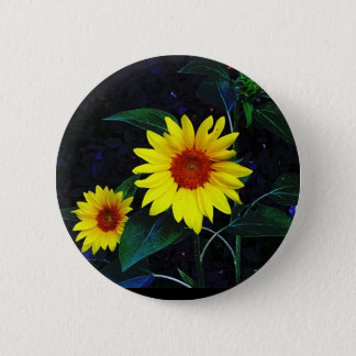Button with Bright Sunflower!