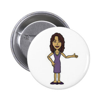 Button with cartoon