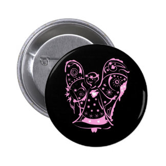 Button with decorative angel