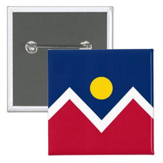 Button with Flag of Denver Colorado