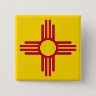 Button with Flag of New Mexico