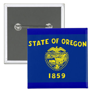 Button with Flag of Oregon