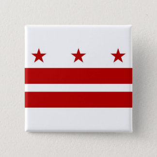 Button with Flag of Washington DC