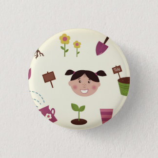 Button with hand-drawn Spring elements