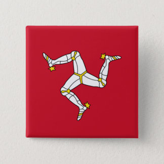 Button with Isle of Man Flag, United Kingdom