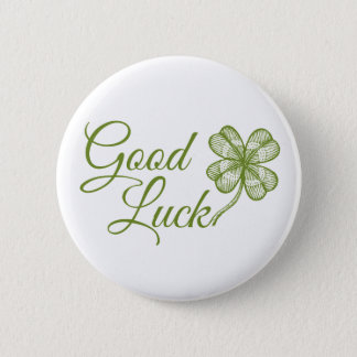 Button with lucky clover. Happy Patrick's Day!