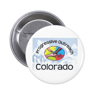 Button with mountain logo