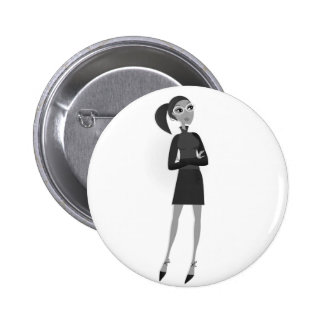 Button with Original business girl