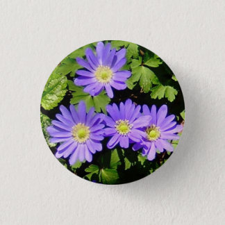 Button with Spring Anemones!