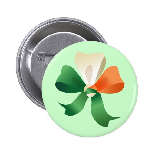Button  with St. Patrick's  bow