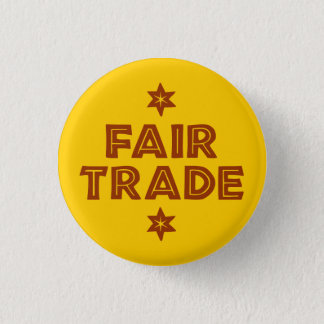 Button with the slogan FAIR TRADE
