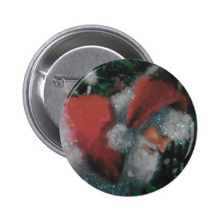 Button With Traditional Santa