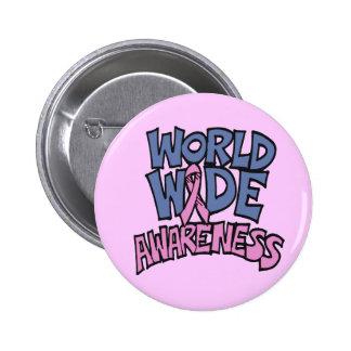 Button - World Awareness Breast Cancer