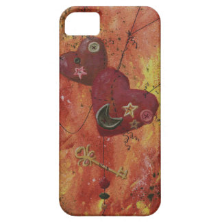 Buttoned Hearts and Skeleton Key iPhone 5 Case