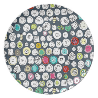 buttons and bees slate dinner plate