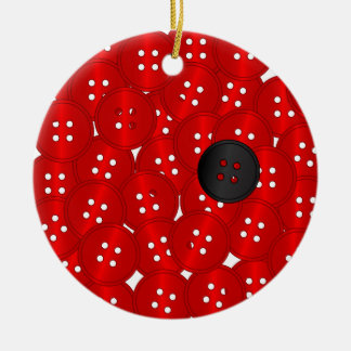 Buttons Ceramic Ornament