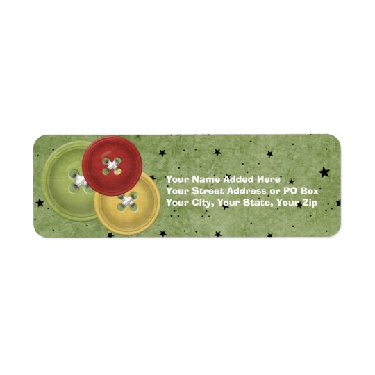 Buttons Customisable Holiday Return Address Labels