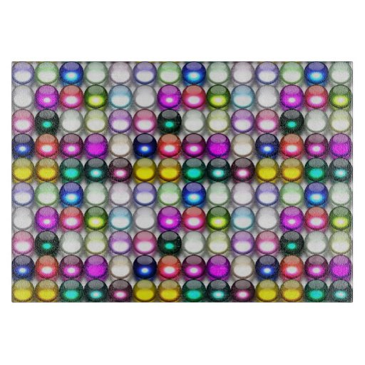 Buttons Galore 1 Decorative Glass Cutting Board