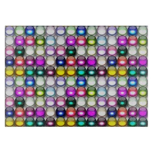 Buttons Galore 1 Decorative Glass Cutting Board