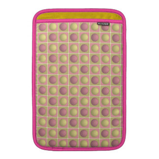 Buttons in Squares Pink MacBook Air Sleeve