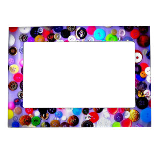 Buttons Magnetic Picture Frame   Sewing Gift   Sew