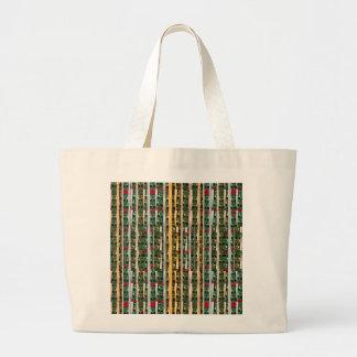 Buttons n Cut Fabric Pattern Art : Greetings Bless Bag