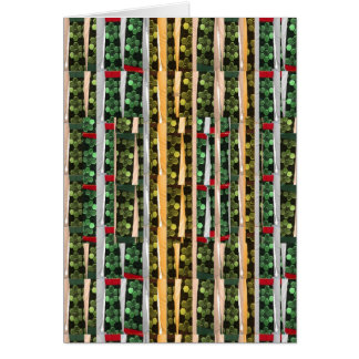 Buttons n Cut Fabric Pattern Art Greetings Bless Card