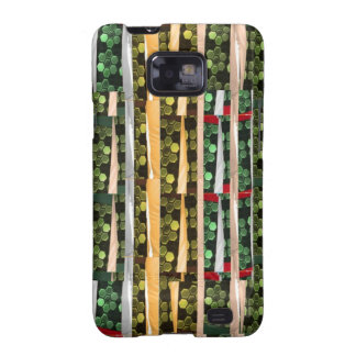 Buttons n Cut Fabric Pattern Art : Greetings Bless Samsung Galaxy S2 Cases