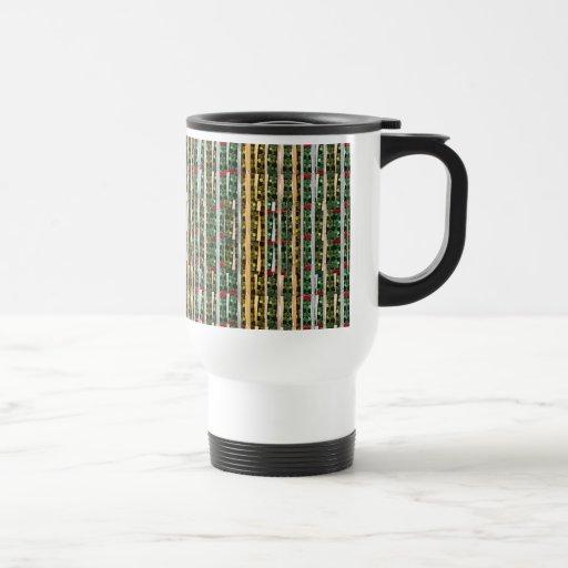Buttons n Cut Fabric Pattern Art : Greetings Bless Coffee Mug