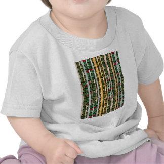 Buttons n Cut Fabric Pattern Art Greetings Bless Tee Shirts