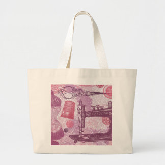 Buttons, scissors and fabric | Tote Bag