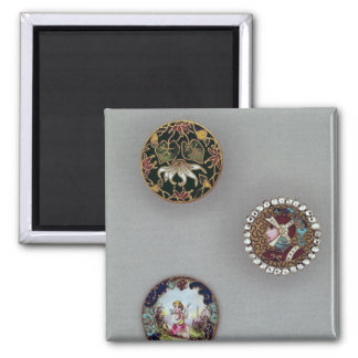 Buttons Square Magnet