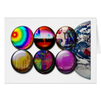 Buttons World View Apparel Greeting Card