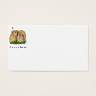 buuny love business card