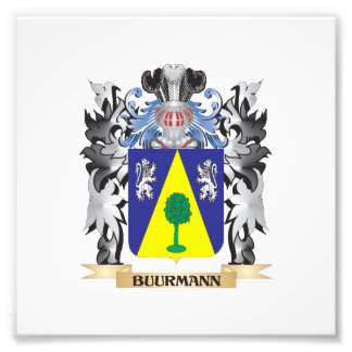 Buurmann Coat of Arms - Family Crest Photo Print