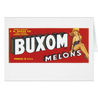 Buxom Melons Greeting Card