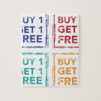 Buy 1 Get 1 Free Stamp Buy 2 Get 1 Free Jigsaw Puzzle