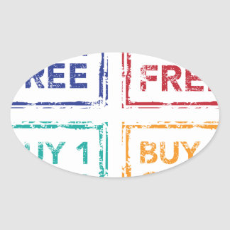 Buy 1 Get 1 Free Stamp Buy 2 Get 1 Free Oval Sticker