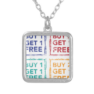 Buy 1 Get 1 Free Stamp Buy 2 Get 1 Free Silver Plated Necklace