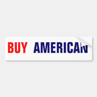 BUY AMERICAN BUMPER STICKER